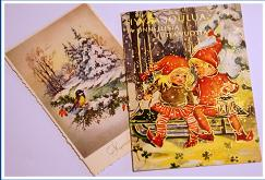 FINNISH CHRISTMAS CARDS CIRCA 1960'S